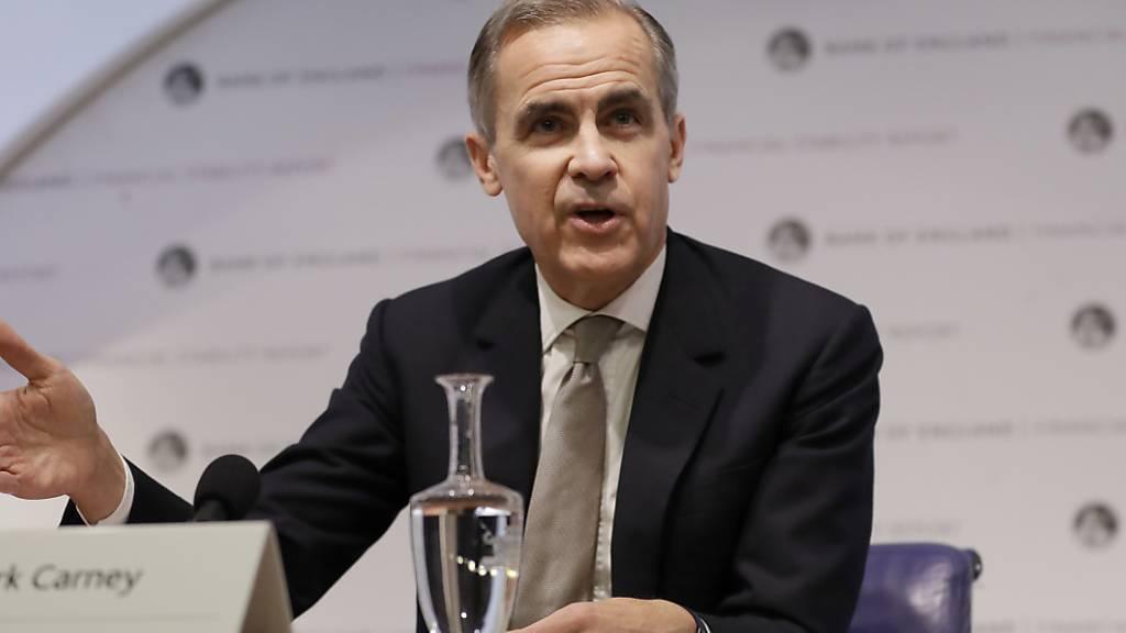 Der Chef der britischen Nationalbank, Mark Carney, hat am Montag neue Massnahmen seiner Zentralbank sowie die Resultate von Stresstests vorgestellt.
