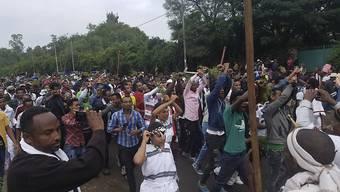 Eine religiöse Zeremonie am Erntedankfest wurde Schauplatz von Ausschreitungen zwischen Demonstranten und der Polizei.