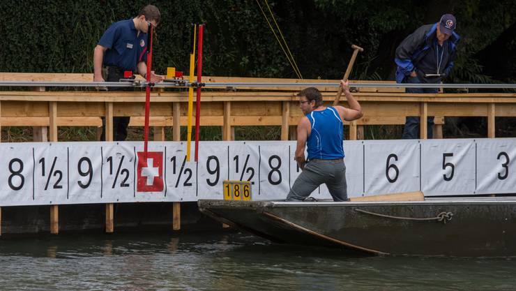 Am Samstag fanden in Baden zwei nationale Pontonier-Wettfahren auf einmal statt.
