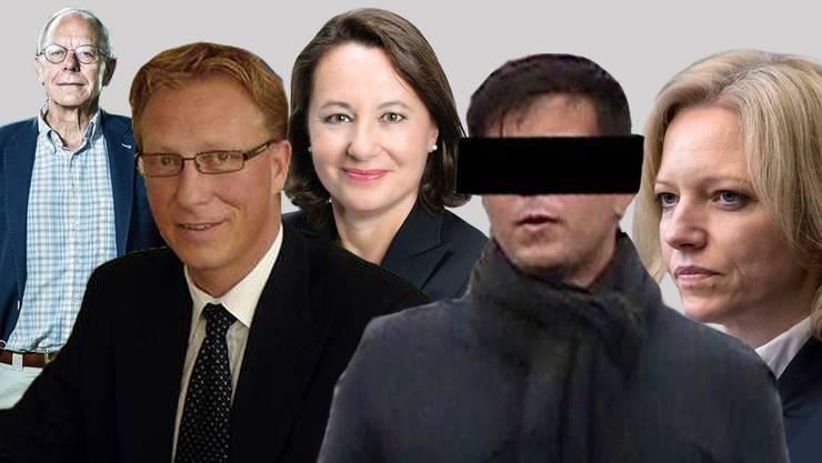Die Protagonisten im Prozess zum Vierfachmord Rupperswil