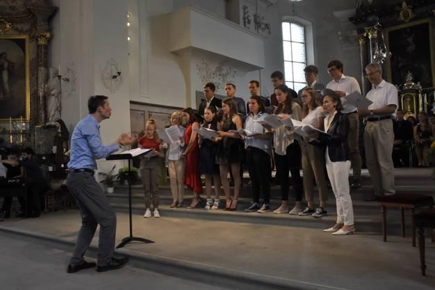 Impressionen von der Maturfeier der Kantonsschule Wohlen.Chor: Vokalensemble unter der Leitung von Walter Siegel.