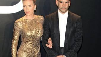 Glücklich sahen die beiden schon im Februar nicht mehr aus: Scarlett Johansson und Romain Dauriac.