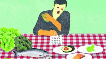 Nils Binnberg ass nur noch Räucherlachs, Avocado, Fleisch, Salat und ein paar Nüsse. Einladungen zu Freunden lehnte er ab.