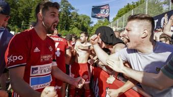 Kann Luca Ladner, Captain des FC Baden, nicht mit allen Fans jubeln, die ins Stadion wollen?