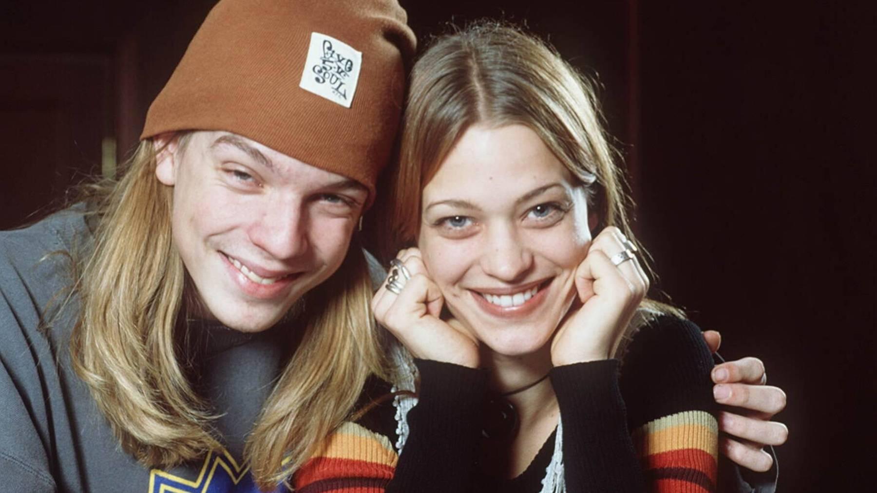 Heute Dozent und Schauspielerin: Nils Bokelberg und Heike Makatsch im Jahr 1993. (Archivbild)