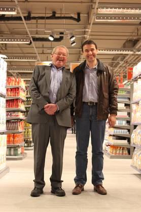 Die Dietiker Gemeinderäte Peter Wettler (l.) und Thomas Wirth hatten es lustig