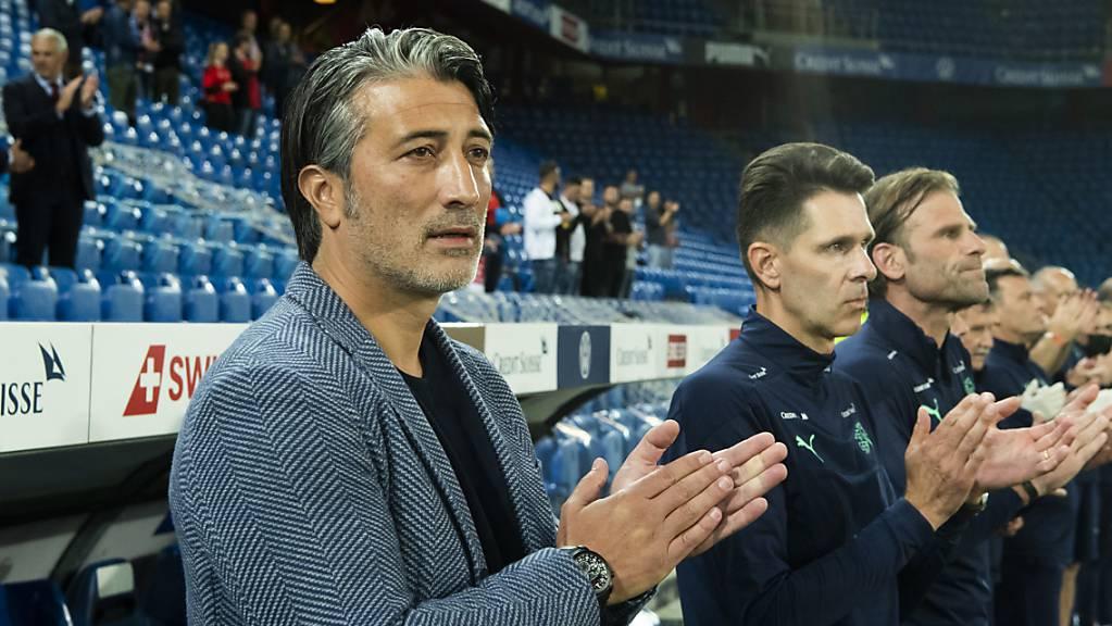 Murat Yakin kann in seinem ersten Spiel als Schweizer Nationaltrainer einen Sieg bejubeln