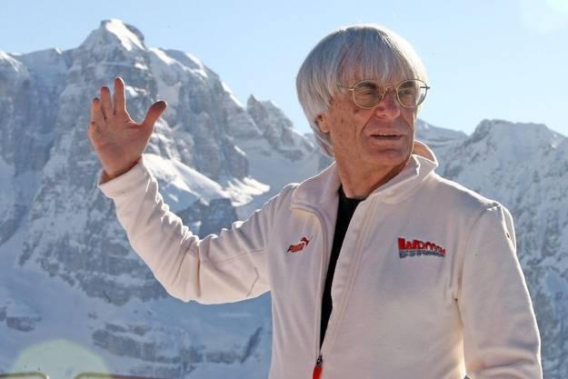 Bernie Ecclestone setzt sich gern in Szene. Hier in Madonna di Campiglio in Italien.