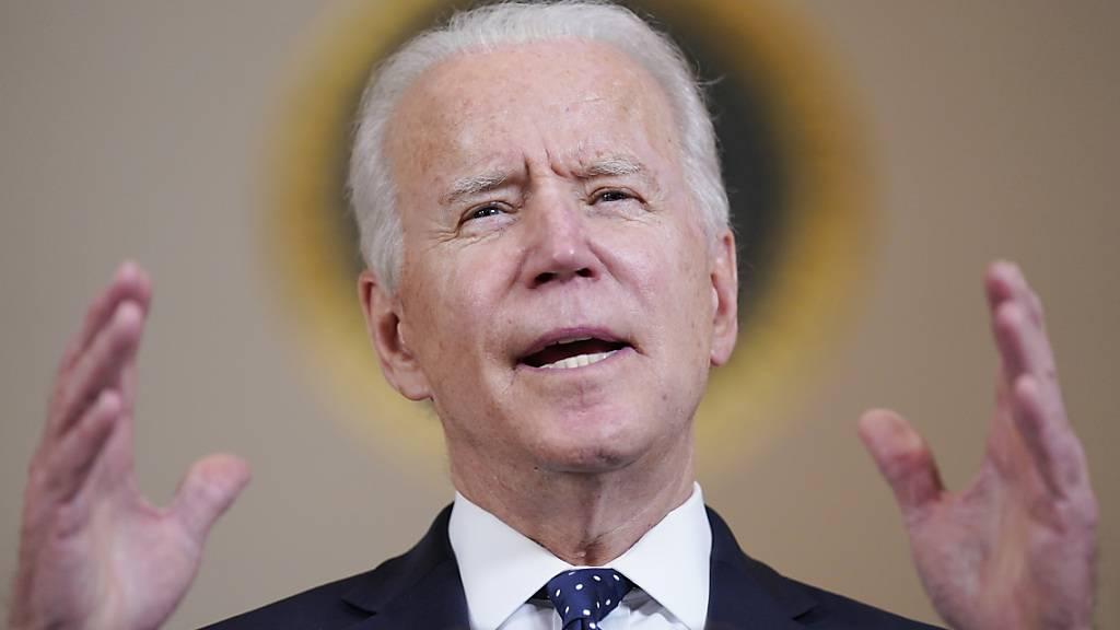US-Präsident Joe Biden steht kurz davor, sein zentrales 100-Tage-Ziel von 200 Millionen verabreichten Corona-Impfungen im Land zu erreichen. Foto: Evan Vucci/AP/dpa