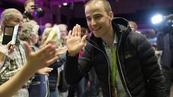 Mountainbike-Olympiasieger Nino Schurter wird in seinem Wohnort Chur gebührend gefeiert