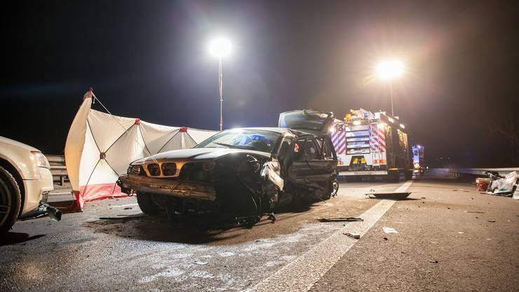 Das Auto des verunglückten Autofahrers.