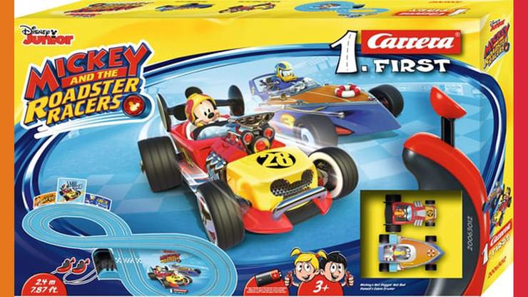 Wunsch-Nr. 57, Elias, 6 Jahre, Mickey Maus Racers Carrera, Migros, CHF 39.90