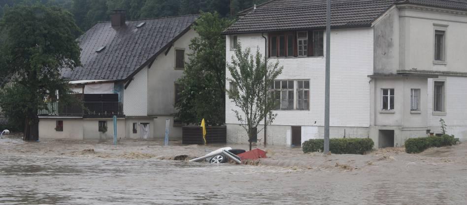 Überschwemmung in Uerkheim