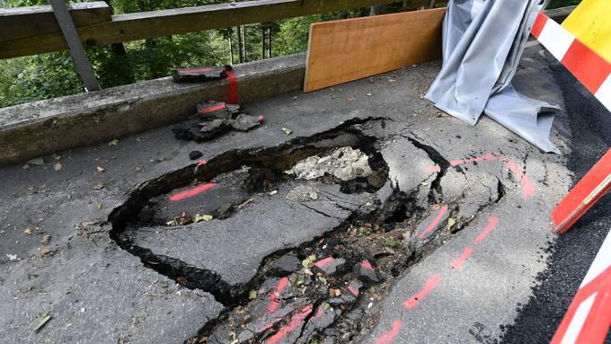 Schaden Bergstrasse Grenchen