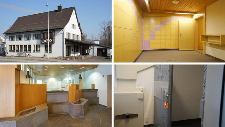 Zum Gebäude, das die Gemeinde Frick für 3,39 Millionen Franken verkauft, gibt es Schliessfächer, einen Bankschalter und eine Arrestzelle hinzu.