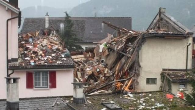 Explodiertes Haus in Netstal (Archiv)
