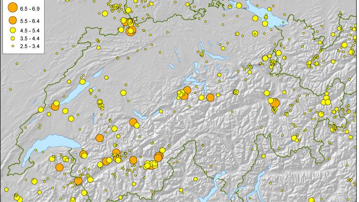 Der Schweiz droht ein Erdbeben der Stärke sieben. Vor allem die Region Basel ist von einem solchen Beben bedroht. (SED)