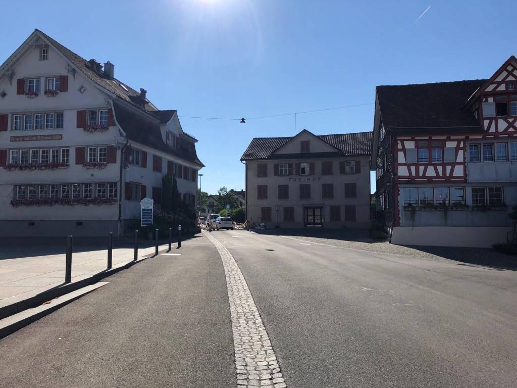 Das Dorfzentrum von Mörschwil ist derzeit eine  Baustelle ... (© FM1Today/Marc Hanimann)