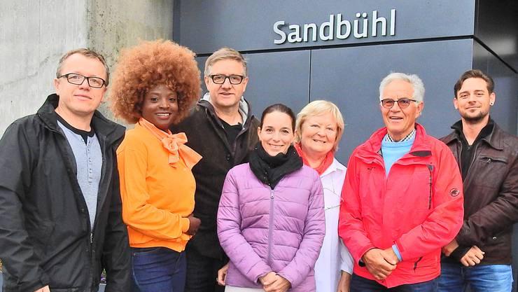 Das Komitee gegen den Verkauf des Sandbühl: Thomas Widmer (QV), Yvonne Brändle-Amolo (SP), Andres Uhl (CVP), Sarah Impusino (CVP), Heidemarie Busch (CVP), Jürg Brem (SP) und Dominik Ritzmann (Grüne)