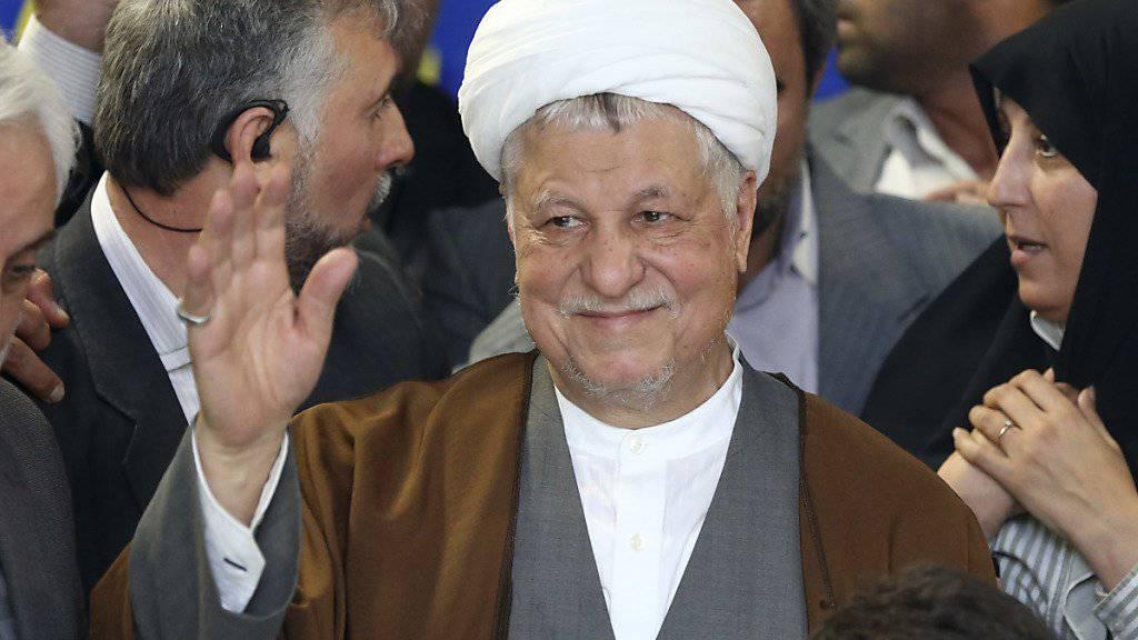 Der frühere iranische Präsident Akbar Haschemi Rafsandschani ist gestorben. (Archiv)