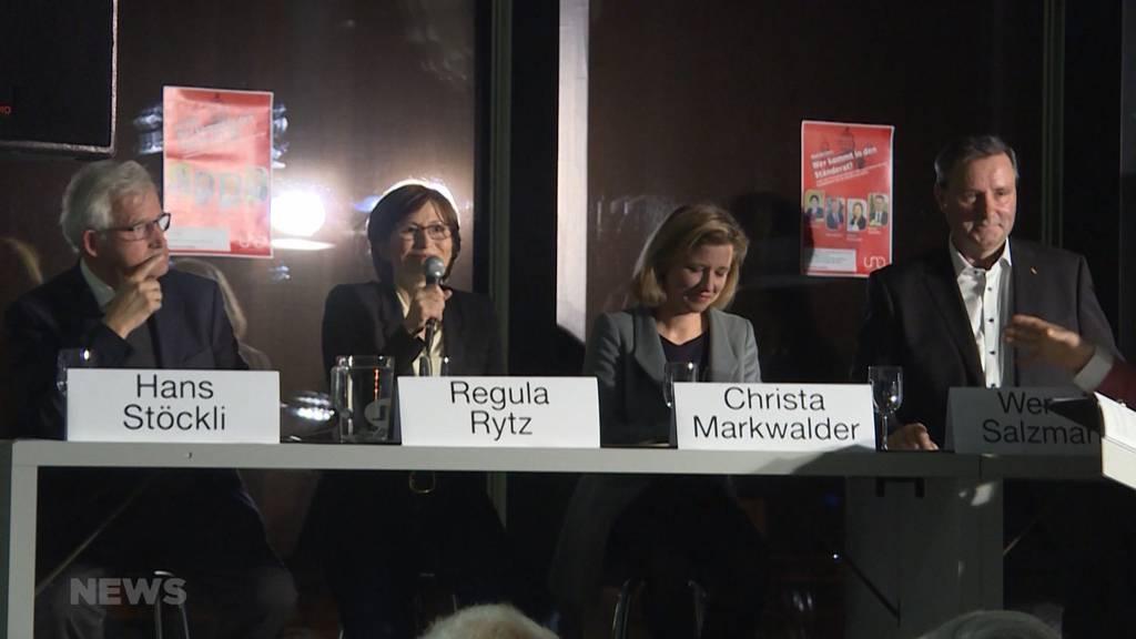 Ständeratswahlen: Finaler Schlagabtausch vor 2. Wahlgang