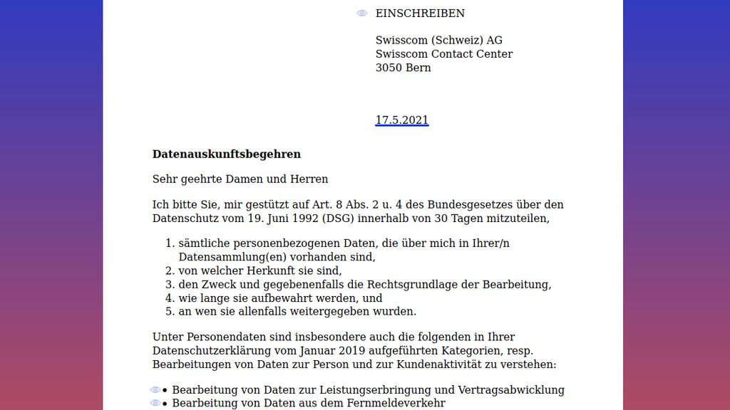 03 Generierter Brief