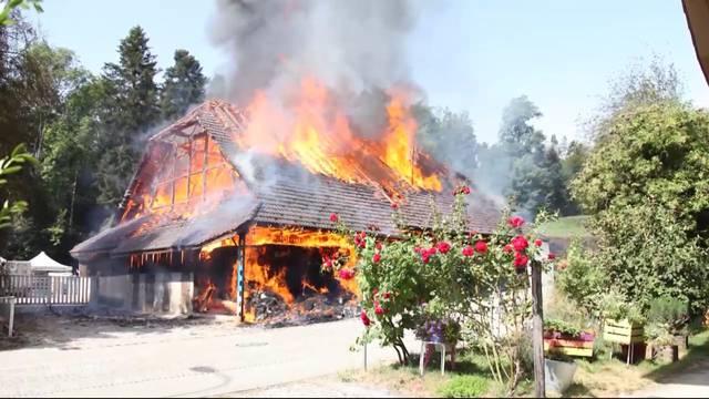 Bauernhofbrand in Glashütten