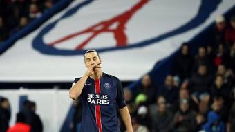 Teilzeitarbeiter: Zlatan Ibrahimovic kam erst in der 72. Minute ins Spiel und konnte PSG nicht mehr zum Sieg schiessen
