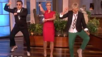 Psy, Britney Spears und Ellen De Generes .