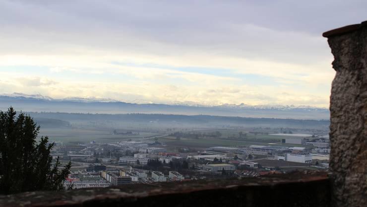 "SRF-Sendung ""Living History"" - Casting auf Schloss Neu-Bechburg - wunderbare Aussicht vom Schloss"