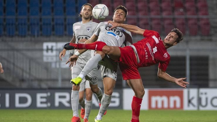 Die Aarauer machen dem FC Vaduz im zweiten Durchgang das Leben schwer.