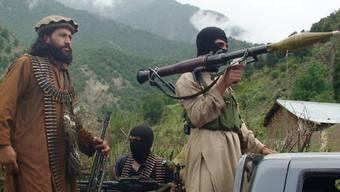 Pakistanische Talibankämpfer in ihrer Hochburg Shawal (Archiv)