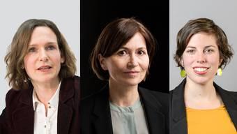 Wer ersetzt die abtretende VCS-Präsidentin Evi Allemann (im Bild links)? Zwei Namen fallen auffallend häufig: Regula Rytz (Grüne/BE, Bildmitte) und Lisa Mazzone (Grüne/GE).
