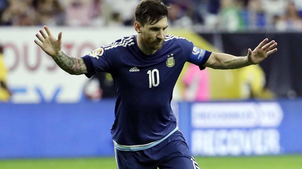 Lionel Messi schoss sein 55. Tor für Argentinien