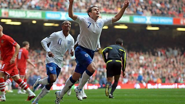 Frühe Führung der Engländer in Wales durch Frank Lampard