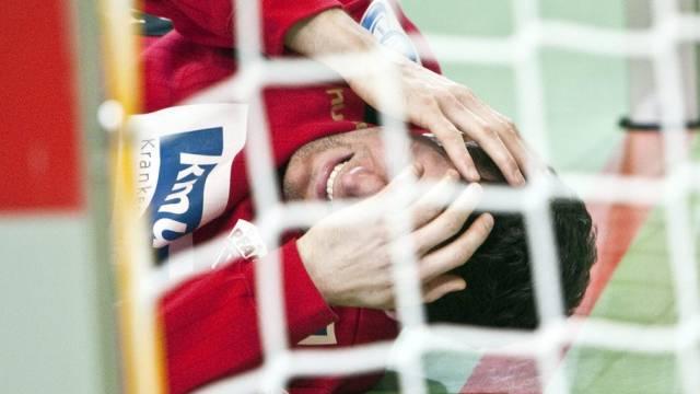 Pfadi-Keeper Martin Pramuk musste in der 53. Minute ausgewechselt werden - verhalf die Verletzung dem RTV Basel zum Unentschieden?