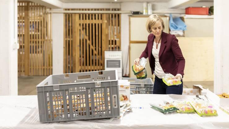 Mit ihrem Verein «Aufgetischt statt weggeworfen» wirkt Sonja Gehrig der Lebensmittelverschwendung entgegen. Bild: Severin Bigler