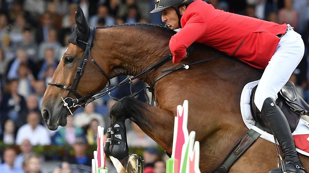 Steve Guerdat auf Hannah belegte mit der Schweiz beim Nationenpreis in La Baule den 3. Rang.