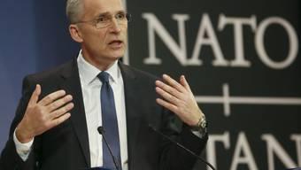 Nato-Generalsekretär Jens Stoltenberg am Donnerstag in Brüssel bei der Präsentation des Jahresberichts.
