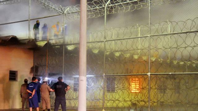 Während einer Meuterei in einem Gefängnis in Aracaju im April 2012