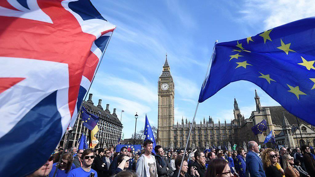 Zehntausende EU-Befürworter zogen durch Londons Innenstadt