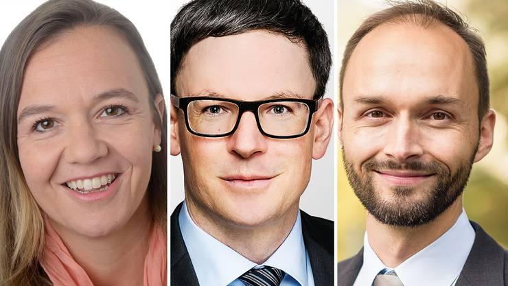 Ob es zu einem Dreikampf mit Christian Bolleter (Mitte) und Christian Fischbacher (rechts) kommen wird, hängt vom noch ausstehenden Entscheid von Nadine Hagenstein ab.