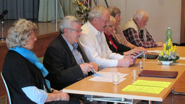 Vorstand des Seniorenclubs Oetwil
