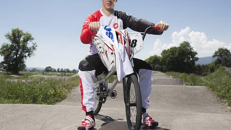 BMX-Fahrer David Graf im Vorfeld der Olympischen Spiele 2016 in Rio