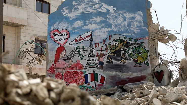Millionen Menschen im  Nordwesten Syriens sind von Hilfslieferungen der Vereinten Nationen abhängig. (Foto: Yahaya Nemah/ EPA/ KEYSTONE-SDA)