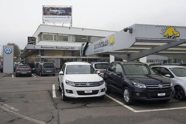 Das Autocenter Baschnagel in Wettingen (Dezember 2012)