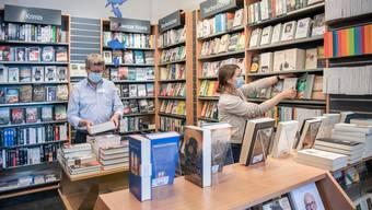 Die Hirschmatt Buchhandlung in Luzern spürt wenig von der Krise.