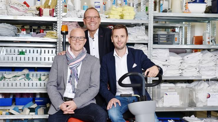 Von links Deny, Peter und Björn Sonderegger. zvg