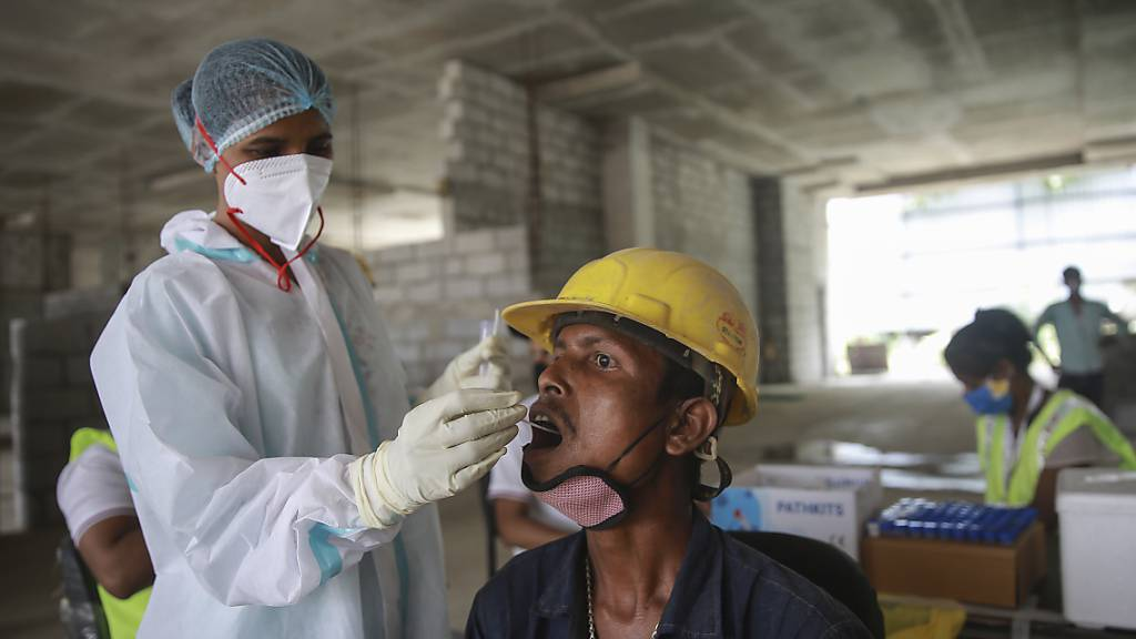 Die Delta-Variante des Coronavirus war zunächst in Indien entdeckt worden. Foto: Uncredited/AP/dpa