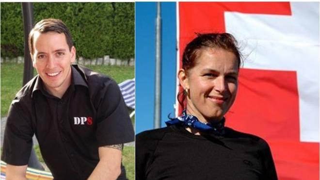Ignas Bearth, Präsident der DPS, und AfD-Politikerin Tatjana Festerling.